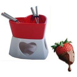 Czekoladowe fondue porcelanowe czerwone marki Gadget master