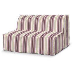 Dekoria Pokrowiec na sofę Lycksele prosty, fioletowo-różowe pasy, sofa Lycksele, Mirella