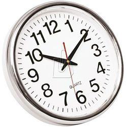 Zegar ścienny Q-Connect Budapest srebrny, 25748