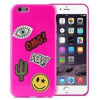Puro Etui  patch mania do iphone 6/6s w zestawie 5 naklejek różowy (8033830184406)