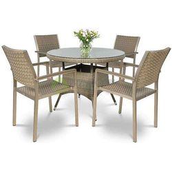 Meble ogrodowe DIANA/ROMA szare okrągły stół