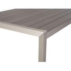 Beliani Aluminiowe meble ogrodowe szare vernio (7081454925029)