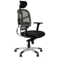 Fotel biurowy gabinetowy hn-5018/szary krzesło biurowe obrotowe marki Stema - hn
