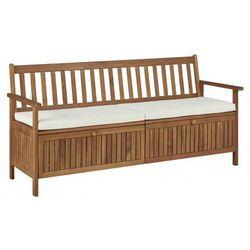 Drewniana ławka ogrodowa Canat 2X - brązowa, vidaxl_45912