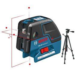 Laser liniowo-punktowy Bosch GCL 25 + statyw - produkt z kategorii- Niwelatory