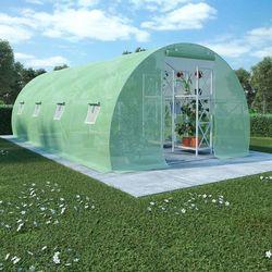 Vidaxl szklarnia ogrodowa, stalowa konstrukcja, 18 m², 600x300x200 cm (8718475723417)