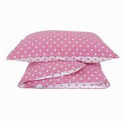 Pościel niemowlęca - gwiazdki - różowo-białe marki Roomee decor