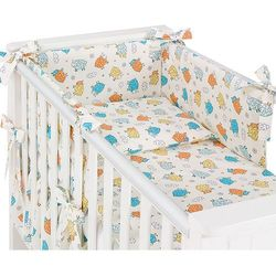 Mamo-tato rozbieralna pościel 3-el szalone owieczki kremowe do łóżeczka 60x120cm