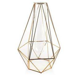 Metalowy złoty wazon ze stelarzu szkła cedric marki Mondex