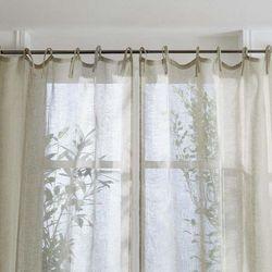 Atmosphera Firana lniana, zwiewna ozdoba okna wykonana z naturalnego włókna przypadnie do gustu wszystkim miłośnikom stylu eko (3560239696186)