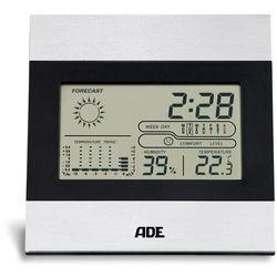 ADE - termometr pokojowy z higrometrem (wymiary: 13 x 2 x 13 cm), WS 1815