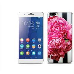 Foto Case - Huawei Honor 6 Plus - etui na telefon Foto Case - różowe kwiaty