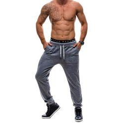 Czarne spodnie dresowe męskie Denley 2127, HOT RED