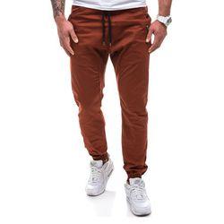Spodnie męskie joggery ATHLETIC 0425-1 bordowe