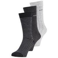 DIM RAYURES ET POIS 3 PACK Skarpety lot noir/anthracite/gris clair, kolor czarny
