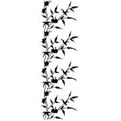Szabloneria Szablon malarski z tworzywa, wielorazowy, wzór flora 349 - pionowy roślinny pas border