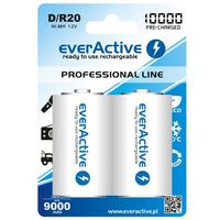 Everactive Akumulatorki  d r20 10000 mah professional line (2szt.)