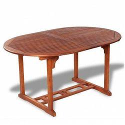 Rozkładany stół ogrodowy Rencontrer - lite drewno akacjowe
