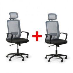 B2b partner Krzesło biurowe base plus 1+1 gratis, szary