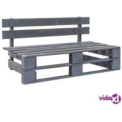 vidaXL Ogrodowa ławka z palet, drewno FSC, szara (8718475717140)
