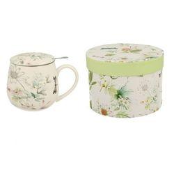 Duo Baniasty kubek porcelanowy z sitkiem hana zaparzacz