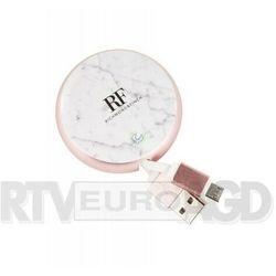 Richmond & finch kabel zwijany microusb 0,9m (biały) (7350076895974)