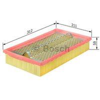 Bosch  wkład filtra powietrza, silnik, 1 457 433 742 (4047023223500)