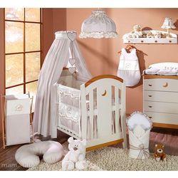 MAMO-TATO pościel 15-el Miś z serduszkiem w brązie do łóżeczka 60x120cm - Tkanina