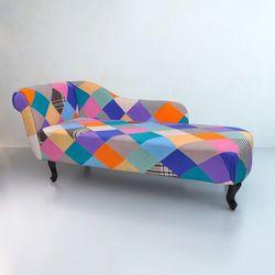 Vidaxl  patchworkowa sofa, leżanka chesterfield