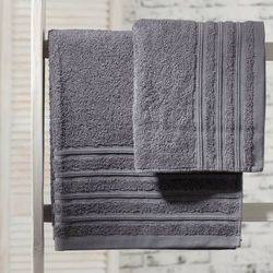ręcznik aveiro grafit, 50x90cm marki Dekoria