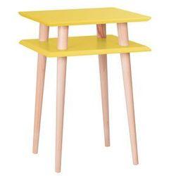 Stolik kawowy Square high żółty by Ragaba