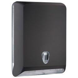 Pojemnik na ręczniki papierowe składane l  plastik czarny, marki Marplast