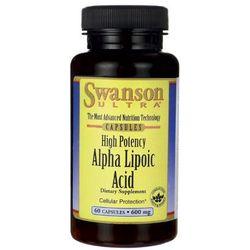 Swanson ALA Kwas alfa liponowy 600mg 60 kaps. - produkt farmaceutyczny