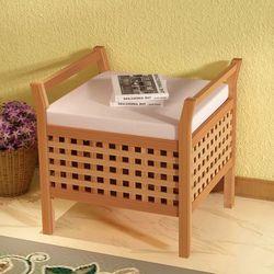 Vidaxl  ławka z miejscem do przechowywania drewna orzechowego 49x48x47 cm (8718475994077)