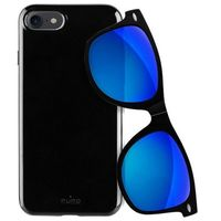 sunny kit - zestaw etui iphone 7 + składane okulary przeciwsłoneczne (czarny) marki Puro