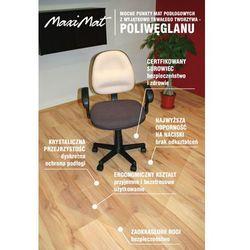 Mata ochronna pod fotel biurowy- 100x125cm - ergonomiczny kształt, krystaliczna