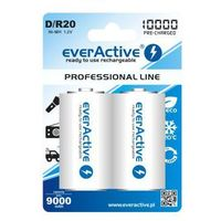 2x everActive R20/D Ni-MH 10000 mAh ready to use