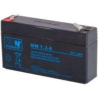 Akumulator żelowy 6,0V/1,3Ah MW Pb 97x24x52 mm 6-9