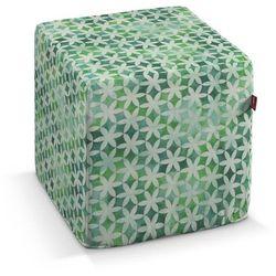 Dekoria pufa kostka twarda, kwiatki na cieniowanym zielonym tle, 40x40x40 cm, urban jungle