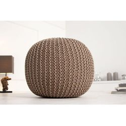 INTERIOR SPACE:: Puf Knitted Ball - beżowy?50cm