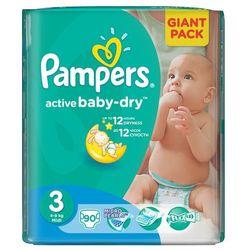 active baby 3 midi (4-9 kg) giant pack - 90 szt. wyprodukowany przez Pampers