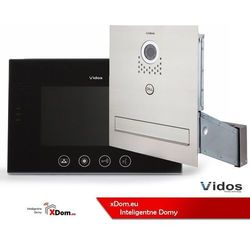 Zestaw jednorodzinny wideodomofonu. skrzynka na listy z wideodomofonem. monitor 7'' s551-skm_m670b-s2 marki Vidos