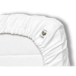 Prześcieradło do kosza mojżesza , do spania i kąpania, białe 35x75 cm - biały marki Nanaf organic