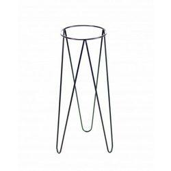 Reqube Kwietnik metalowy loft, stojak czarny 70 cm (5908311181881)