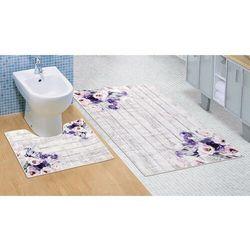 Bellatex zestaw dywaników łazienkowych kwiat fioletowy, 60 x 100 cm, 60 x 50 cm (8592325079400)