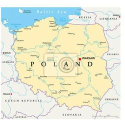 Naklejka Polska Mapa polityczna - produkt dostępny w REDRO