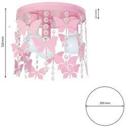 Plafon lampa oprawa sufitowa Milagro Angelica 3x60W E27 jasny róż 1165
