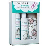 zestaw dla dzieci kremowy szampon i płyn do kąpieli + oliwka do ciała marki Sylveco