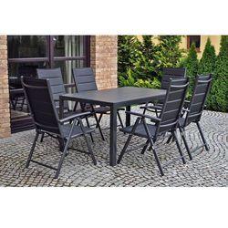 Meble ogrodowe aluminiowe ibiza pollywood black, marki Home garden