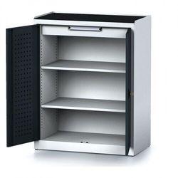 B2b partner Szafa warsztatowa mechanic, 1170 x 920 x 500 mm, 2 półki, 1 szuflada, antracytowe drzwi